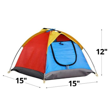 Miniature Tent with Dimensions