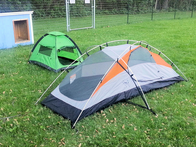 ... Green Exploration Pup Tent in the Yard & Mini Display Tents | Exploration Pup Tent